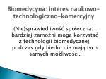 biomedycyna interes naukowo technologiczno komercyjny2