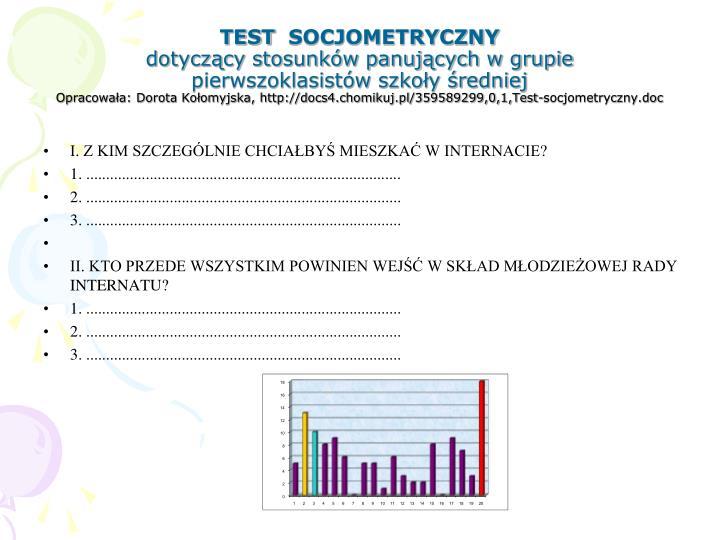 TEST SOCJOMETRYCZNY