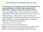 wewn trzna organizacja grupy