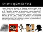 entomologia stosowana