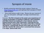 synopsis of movie