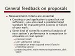 general feedback on proposals1
