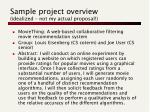 sample project overview idealized not my actual proposal