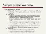 sample project overview2