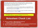 notesheet check list1
