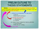 prelim outline to thesis statements