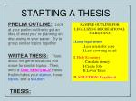 starting a thesis