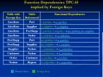 function dependencies tpc h implied by foreign keys