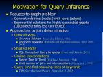 motivation for query inference1