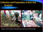 collection and preparation of soil test analysis