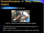 process procedures in taking plankton analysis