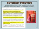 notesheet practice