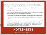 notesheets