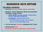 research info review
