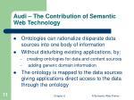 audi the contribution of semantic web technology
