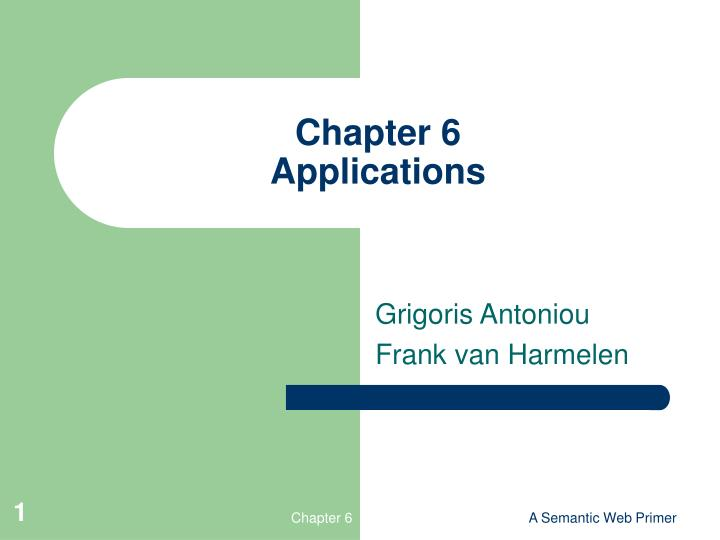 chapter 6 applications n.