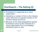 enersearch the setting 2