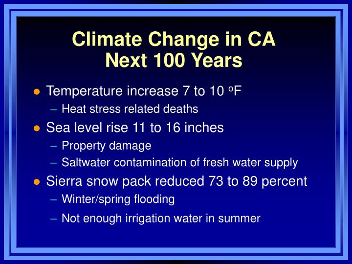 Climate Change in CA