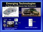emerging technologies to reduce greenhouse gas emissions