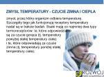 zmys temperatury czucie zimna i ciep a