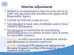 interim adjustment