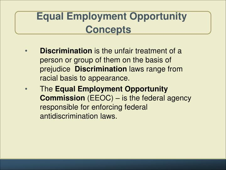 equal employment opportunity concepts n.