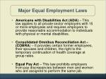 major equal employment laws1