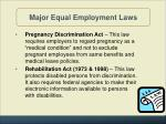 major equal employment laws5