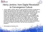 henry jenkins from digital revolution to convergence culture