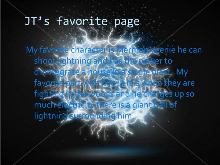 JT's favorite page