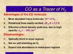 co as a tracer of h 2
