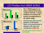 co profiles from bima song1
