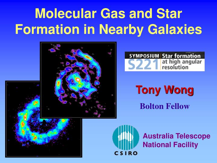 molecular gas and star formation in nearby galaxies n.