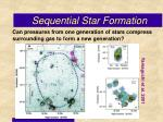 sequential star formation