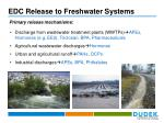 edc release to freshwater systems