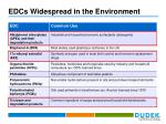 edcs widespread in the environment