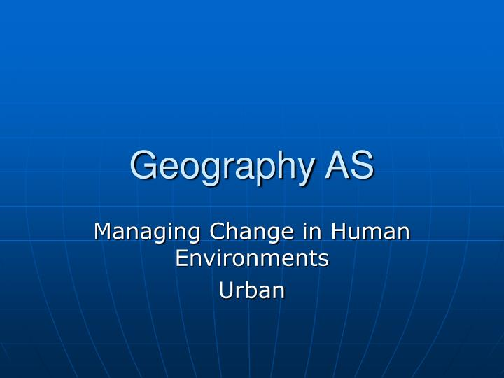 geography as n.