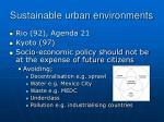 sustainable urban environments1