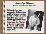 golden age of sports baseball george herman babe ruth1