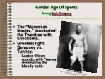 golden age of sports boxing jack dempsey