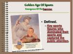 golden age of sports emergence of the superstar
