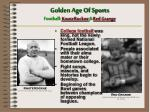 golden age of sports football knute rockne red grange
