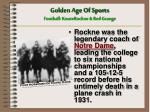 golden age of sports football knute rockne red grange1