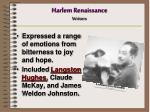 harlem renaissance writers