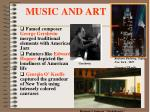 music and art