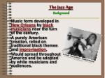 the jazz age background
