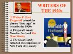 writers of the 1920s1