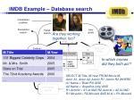 imdb example database search
