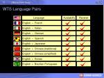 wts language pairs