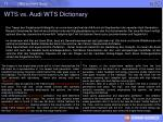 wts vs audi wts dictionary